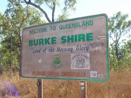 Burke shire morning glory sign